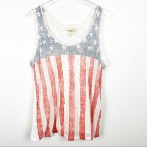American Flag Lace Boho Tank Denim & Supply RL BB